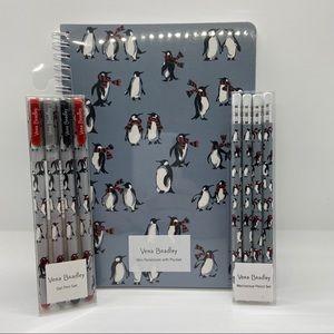 Vera Bradley Stationary Set -Playful Penguins Grey